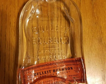 LAST ONE  Bulleit Bourbon  Bottle Melted Into a Dish