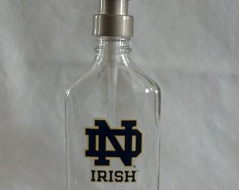 Notre Dame glass Soap, Sanitizer or Lotion Dispenser