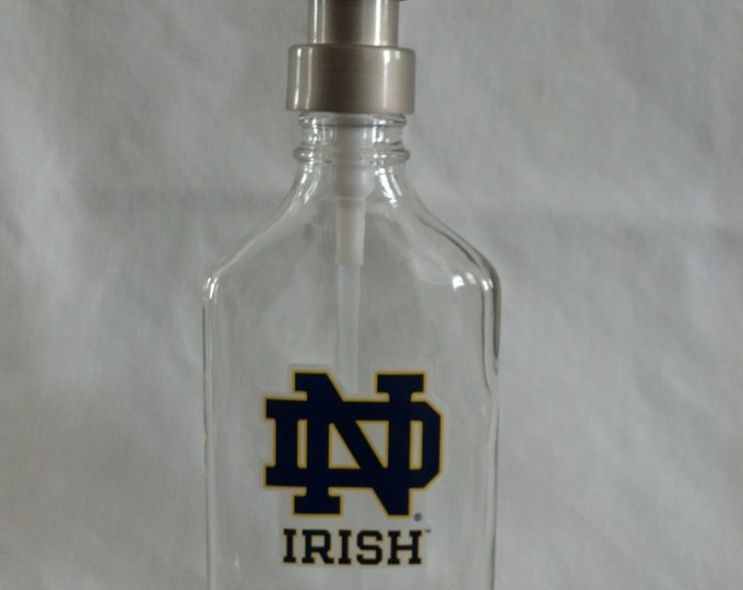 Notre Dame glass Soap, Sanitizer or Lotion Dispenser