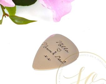 Personalised Hand Stamped Guitar Pick Plectrum