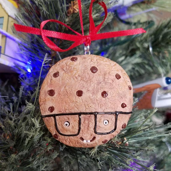 Polymer Clay Christmas Decorations.Smart Geek Cookie Polymer Clay Christmas Ornament Figure