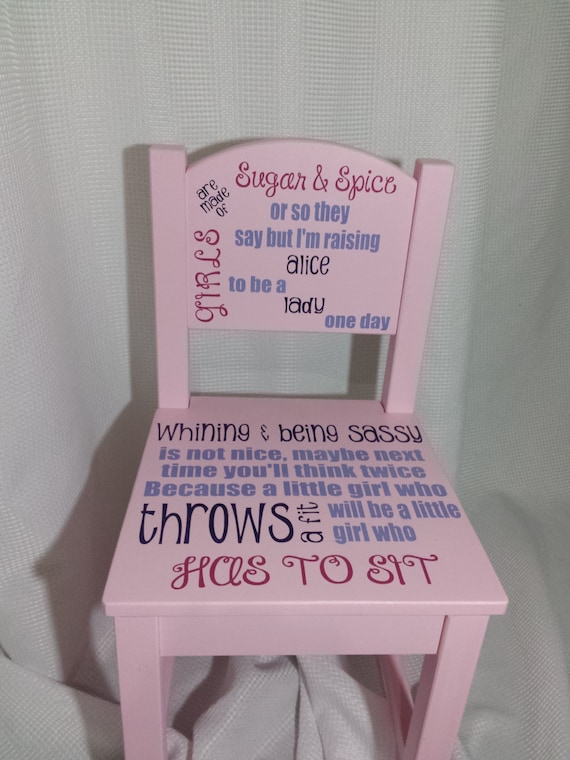 Personalized Time Out Chair Girl Free Shipping Etsy