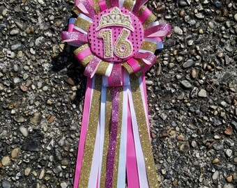 Embroidery birthday pin