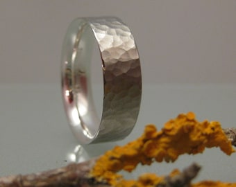 Ring silver hammered