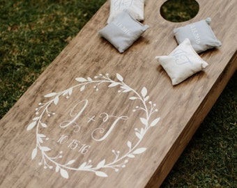 Wedding Cornhole Decals | Wedding Monogram | Bride and Groom Initials | DIY Wedding Decor | Wedding Gifts for Couple