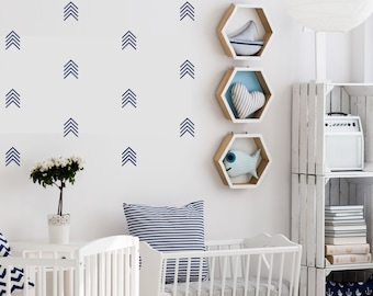 Scandinavian Style Arrow Wall Decals | Tribal Arrow Wall Decal Set | Arrow Nursery Decor | Chevron Arrow Decals