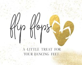 Wedding Flip Flop Sign | Wedding Signs | DIY PRINTABLE | Instant Download