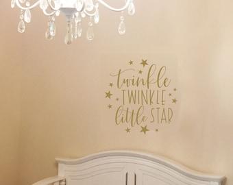 Twinkle Twinkle Little Star Nursery Decor | Star Wall Decals | Twinkle Twinkle Nursery Wall Decal