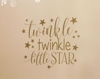 Twinkle Twinkle Little Star Nursery Decor | Star Wall Decals | Twinkle Twinkle Nursery Wall Decal