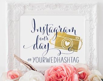Instagram Wedding Sign | Personalized Wedding Sign | Wedding Printable Sign | DIY Wedding Decor | Quick Turnaround DIY Print