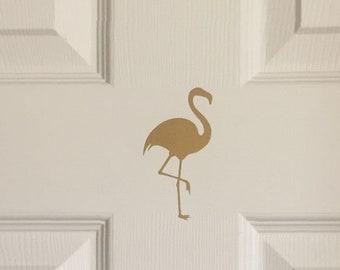 Flamingo Decor for Home | Gold Flamingo Decal | Flamingo Wall Decal Set | Flamingo Stickers | Pink Flamingo Vinyl Wall or Door Decal