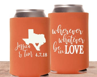State Shape Wedding Can Coolers | Personalized Can Cooler | State Wedding Favor | Destination Wedding Favor | FREE Shipping