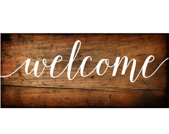 Welcome Sign Vinyl Decal | DIY Wood Signs  | Wedding Welcome Sign | DIY Palette Signs