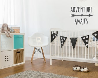 Life is an Adventure Wall Decal | Adventure Awaits Wall Decal | Baby Boy Nursery | Arrow Decal | Aztec Nursery Decor