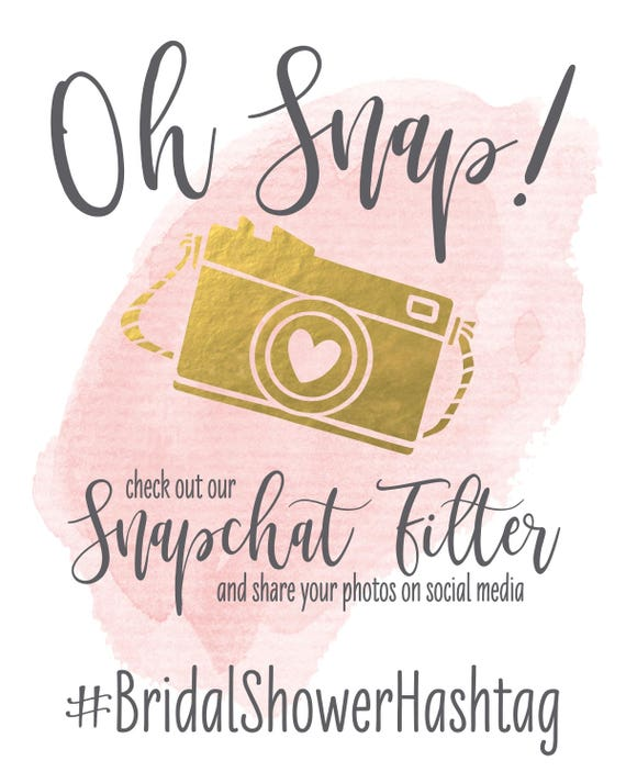 image relating to Printable Snapchat Filters known as Oh Snap Wedding ceremony Signal Snapchat Filter Do-it-yourself Printable Bridal Shower Indicator  Snapchat Instagram Social Media Percentage Signal Little one Shower Signal