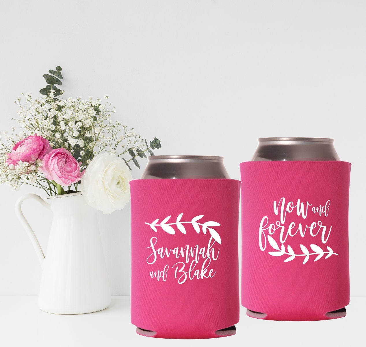 Personalized Can Coolers | Wedding Can Coolers | Now and Forever ...