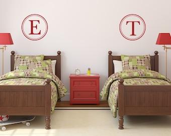 Monogram for Boys   Monogram for Girls   Nursery Monogram   Monogram Wall Decal   Initial Monogram Wall Decor