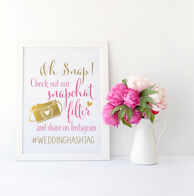 image about Printable Snapchat Filters known as Snapchat Filter Marriage ceremony Indication Instagram Wedding ceremony Signal Wedding day Indicator PRINTABLE Simple Turnaround Do it yourself Print Snap Speak Filter Wedding day Indication