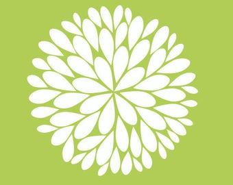 Single Dahlia Flower Vinyl Decal | Big Dahlia Flower Wall Decal | Dahlia Decal Three Size Options