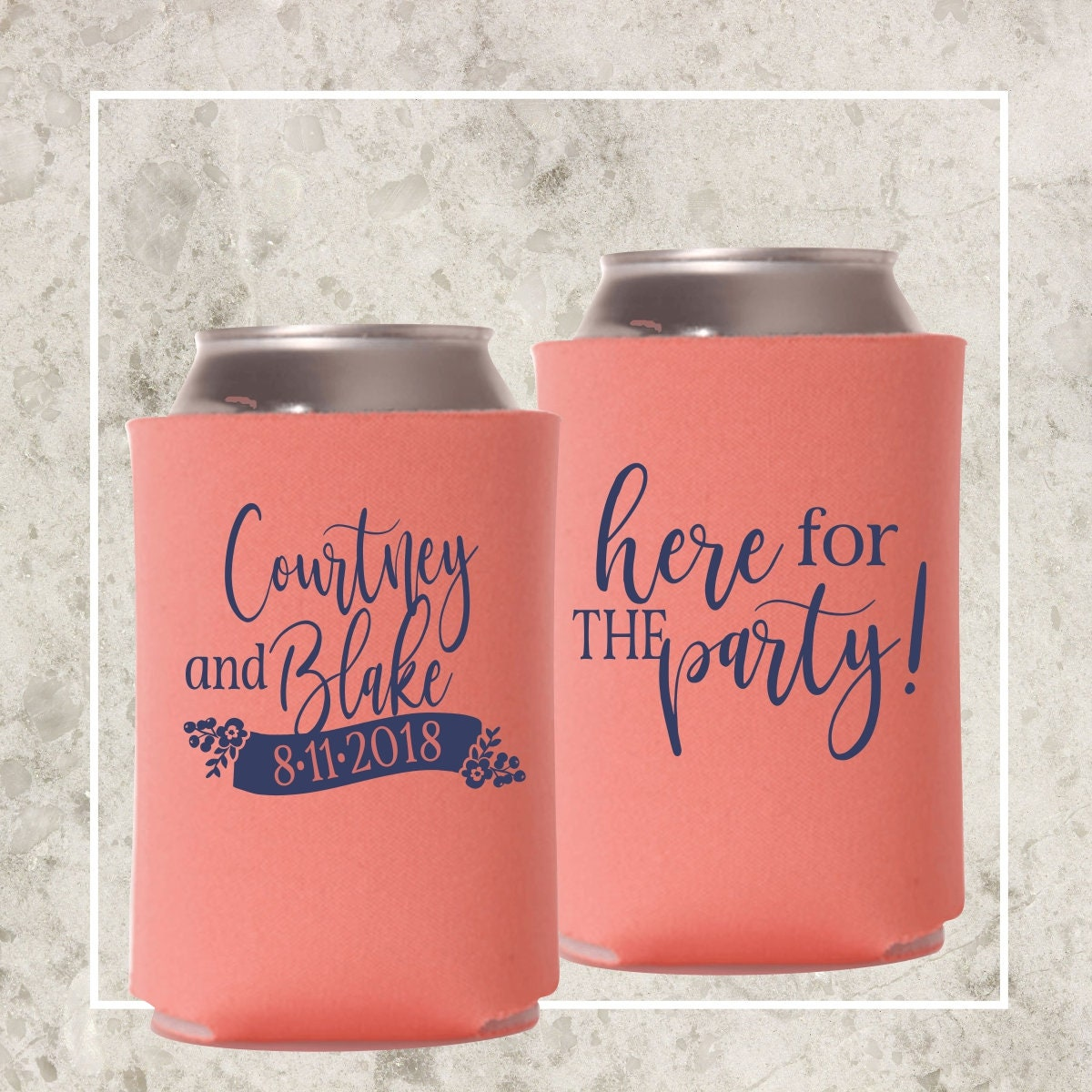 Wedding Favor Can Coolers | Personalized Party Favor | Bride and ...