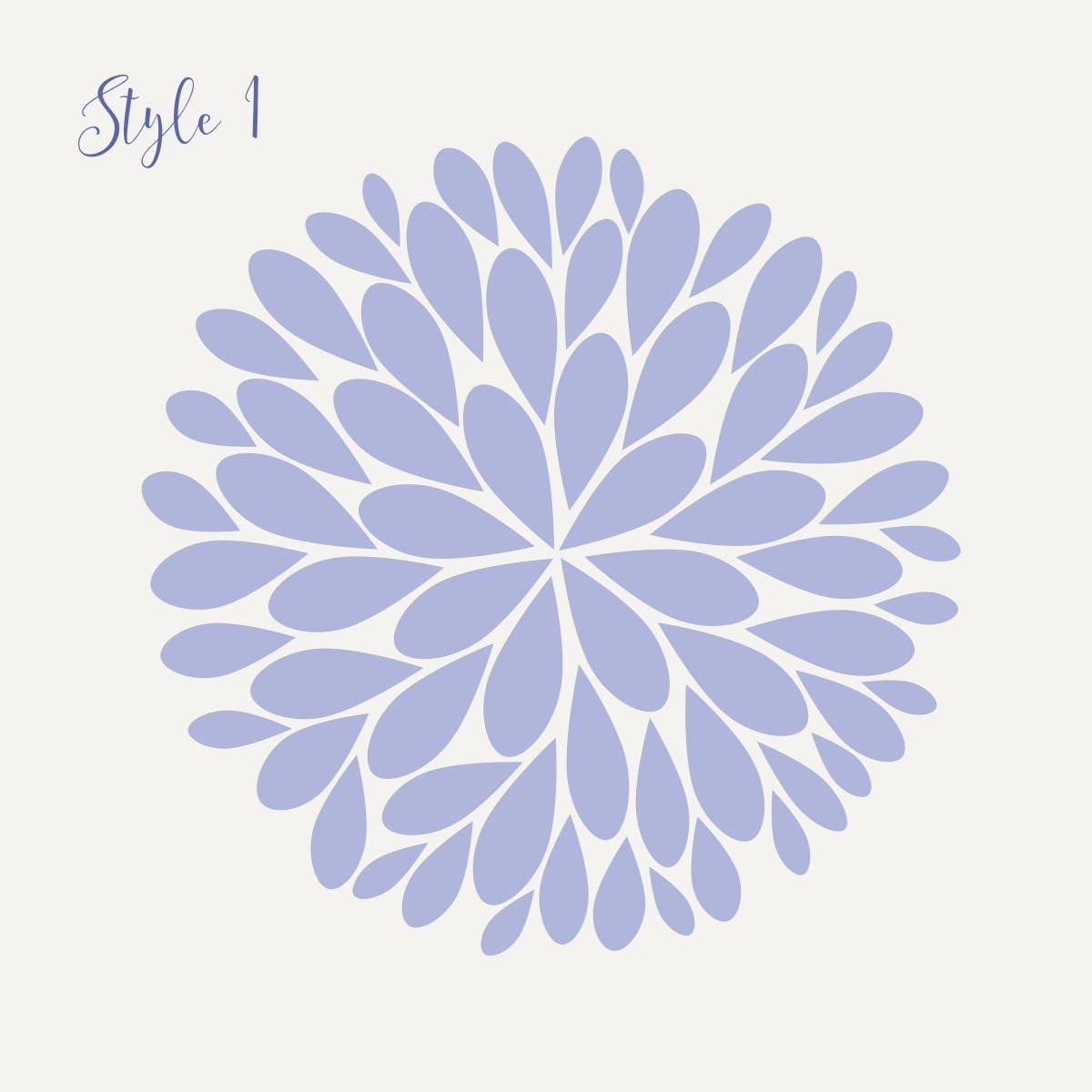 Single Dahlia Flower Vinyl Decal | Big Dahlia Flower Wall Decal | Dahlia Decal Three Size Options  sc 1 th 225 & Single Dahlia Flower Vinyl Decal | Big Dahlia Flower Wall Decal ...