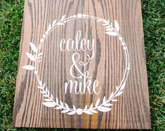 Wedding Cornhole Decals | Rustic Wedding Decor | Personalized Wedding Wreath | Best Day Ever Wedding Date Vinyl Decals for Corn hole Game