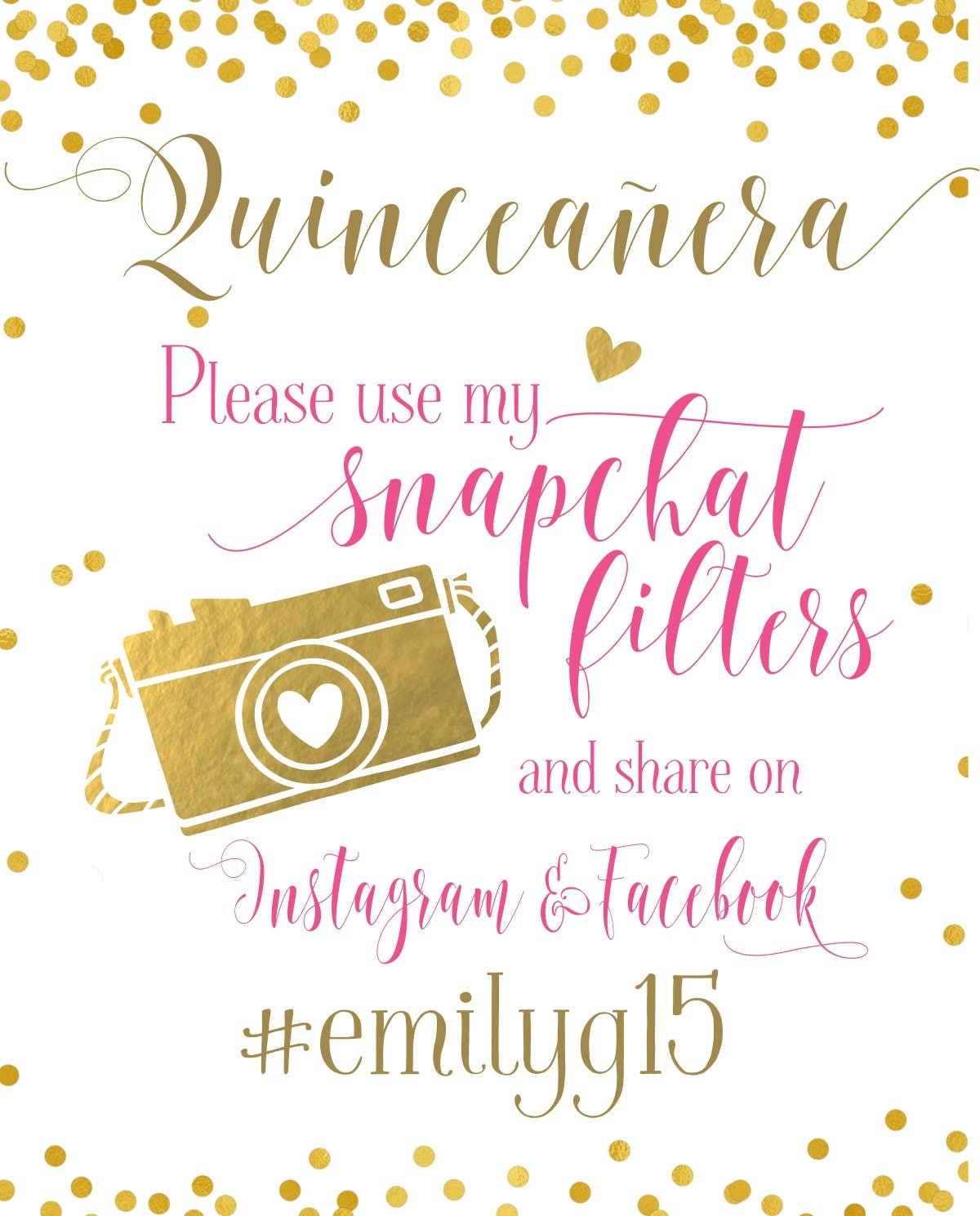 graphic regarding Printable Snapchat Filters titled Cute 16 Snapchat Filter Quinceañtechnology Celebration Indication
