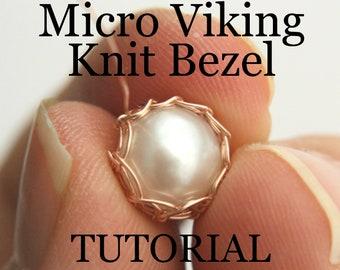 Micro Viking Knit Bezel Tutorial, Wire Wrapping Tutorial, How to Wire Wrap, Wire Knitting PDF Pattern, Viking Knit Jewelry Tutorial
