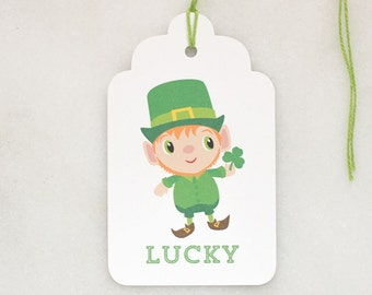 St. Patricks Day Gift Tags - Lucky Leprechaun - Gift Tags - Set of 6