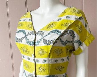 Pretty 1950's Floral Dress