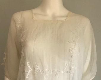 Sweet 1920's Lawn Cotton Dress