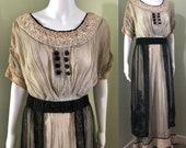 Amazing Edwardian Dress with overskirt