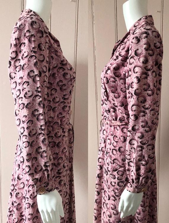 Fantastic 1940's Moygashel Pink Dressing Gown - image 5