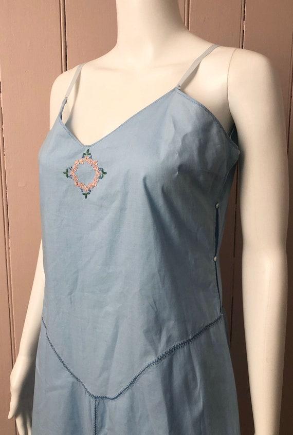 Pretty 1930's Pale Blue Cotton Slip