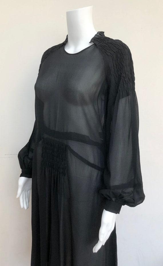 Lovely Black 1930's Silk Crepe Dress