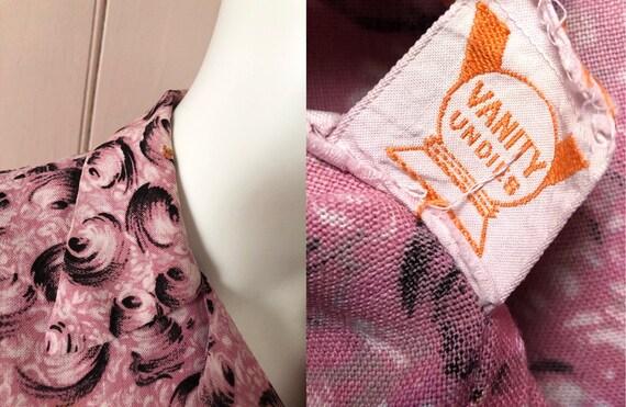 Fantastic 1940's Moygashel Pink Dressing Gown - image 10
