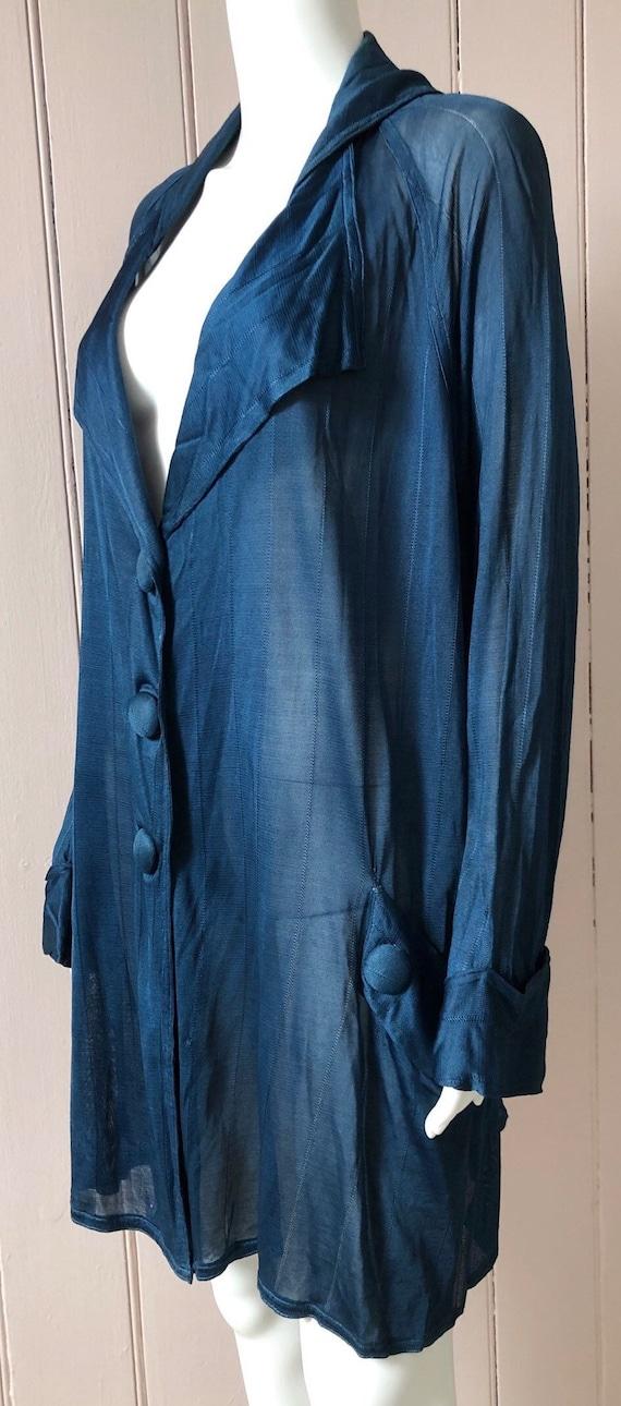 Rare 1920's Petrol Blue Cardigan