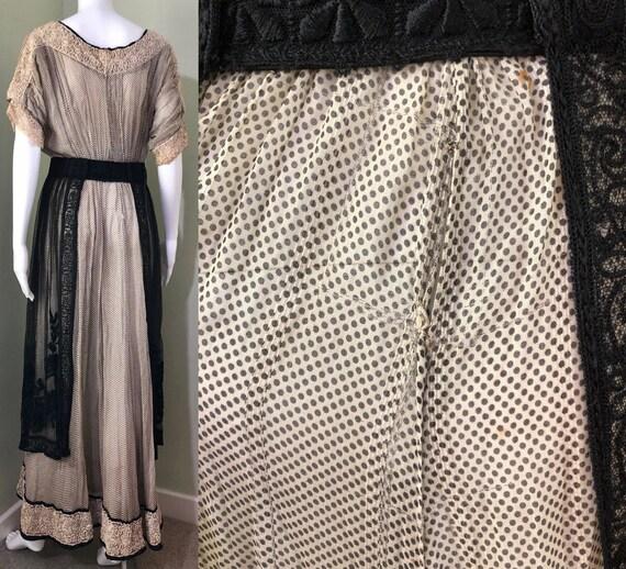 Amazing Edwardian Dress with overskirt - image 2