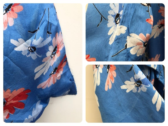 Beautiful 1930's Floral Satin Dressing Gown - image 6