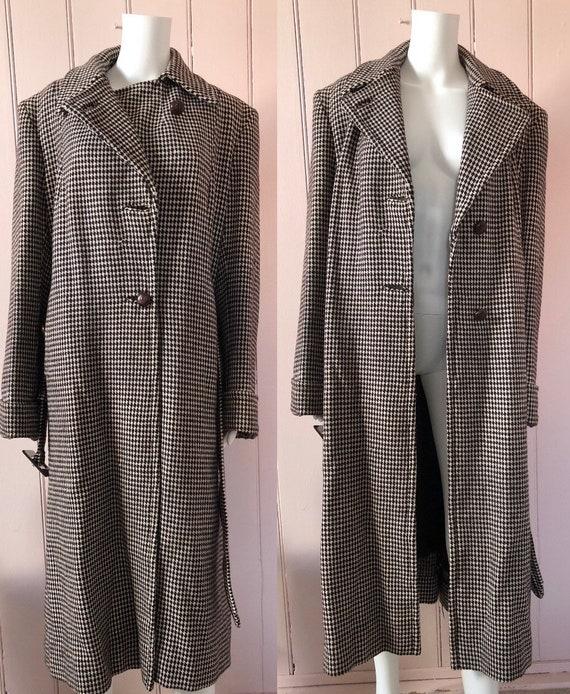 Fantastic 1940's Houndstooth Coat - image 4
