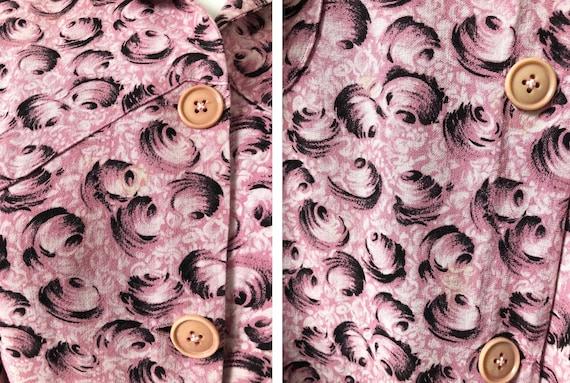 Fantastic 1940's Moygashel Pink Dressing Gown - image 8
