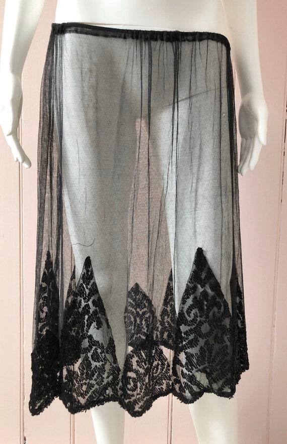 Wonderful 1920's Net Beaded Skirt