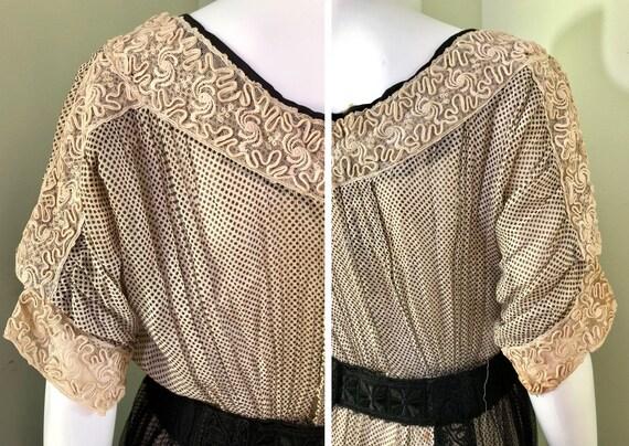 Amazing Edwardian Dress with overskirt - image 4
