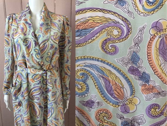 Pretty Light Rayon 1940's Gown