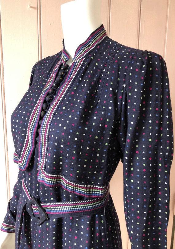 Stunning 1930's Polka Dot Day Dress