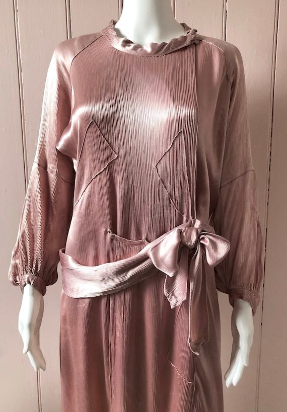 Amazing 1930's Panelled Pink Gown