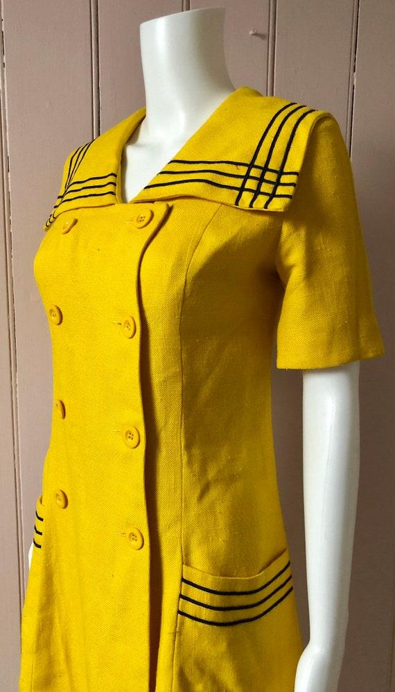 Bright yellow 1960's Wallis Dress - image 2