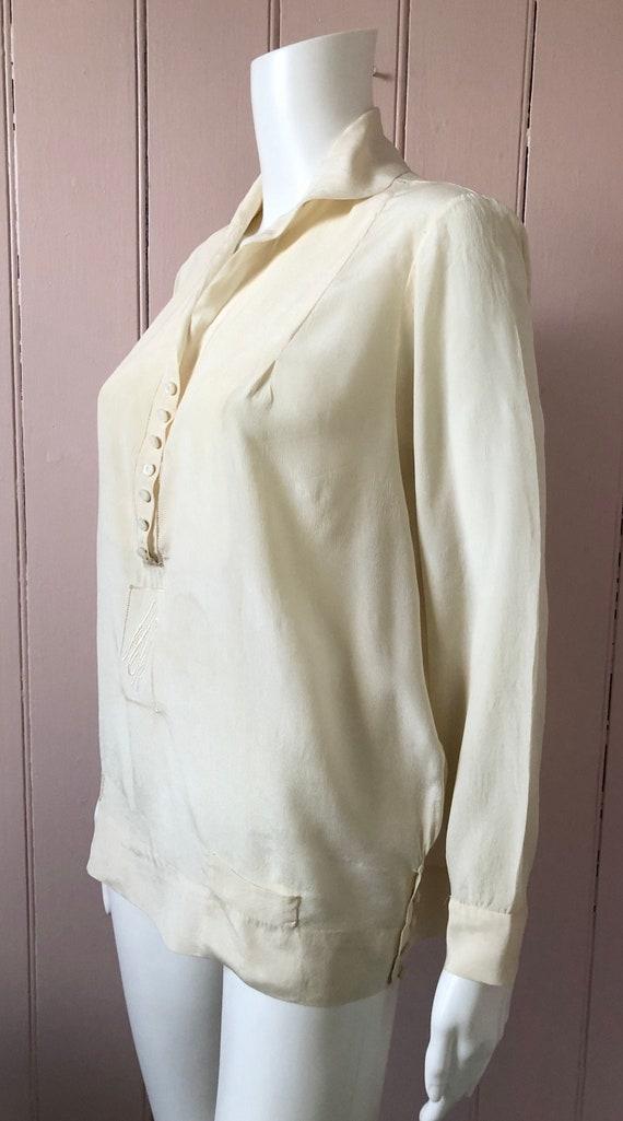 Fantastic 1920's Silk Blouse