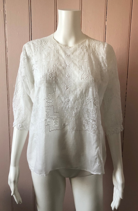 Stunning Edwardian Embroidered Blouse
