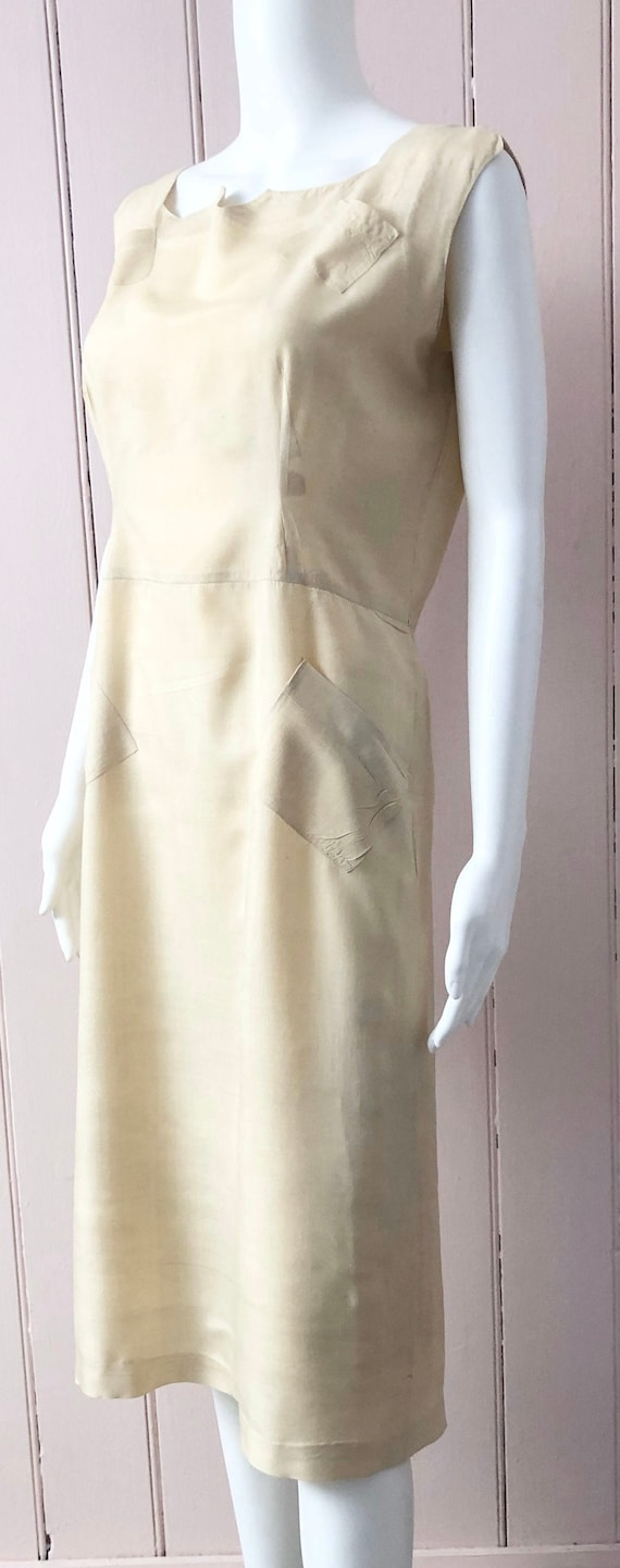 Stylish 1930's-1940's Silk Dress